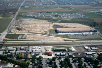 American Furniture Warehouse nearby construction aerial photo